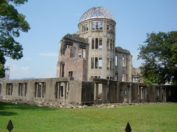 A-Bomb Dome is Hiroshima, Japan